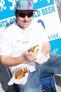Adam Rubenstein from www.vivalafoodies.com sits down to enjoy his pattywagonburgers.com at the Shortstop Bar