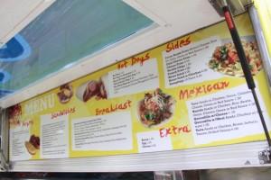 The Place LA menu