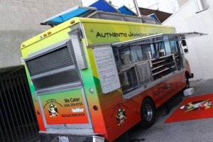 reggae chicken jamaican food truck los angeles with blaze mob reggae band