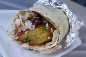 reggae chicken burrito