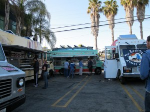 dogtown dogs and the dim sum truck at the brig at first fridays