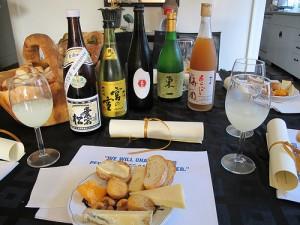 cheese and sake tasting