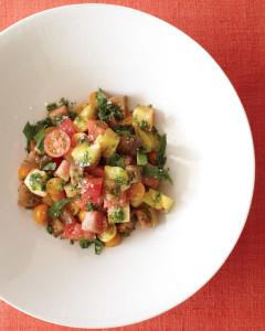 Heirloom Tomato, Crushed Basil, Fleur de Sel